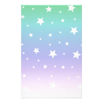 Rainbow of stars starlit sky sweet nice stationery