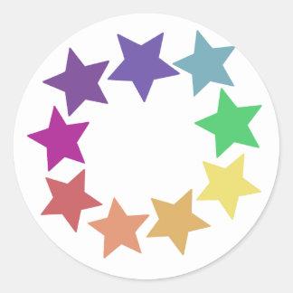 Rainbow of Stars Stickers