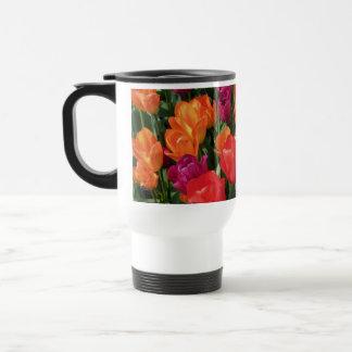 Rainbow Of Tulips 15 Oz Stainless Steel Travel Mug