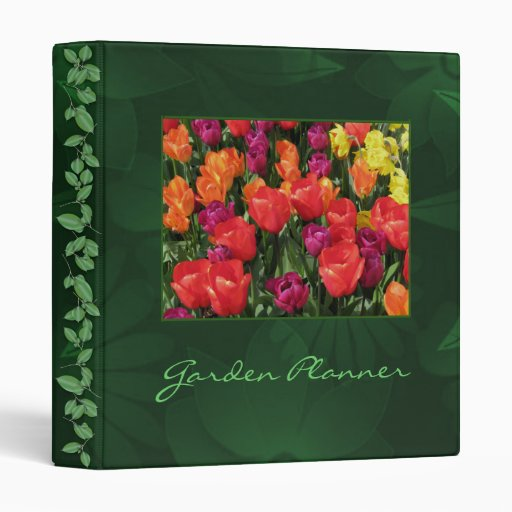 Rainbow Of Tulips Binder