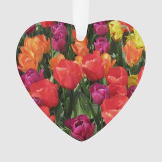 Rainbow Of Tulips Ornament