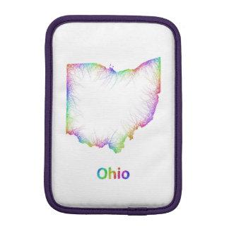 Rainbow Ohio map Sleeve For iPad Mini