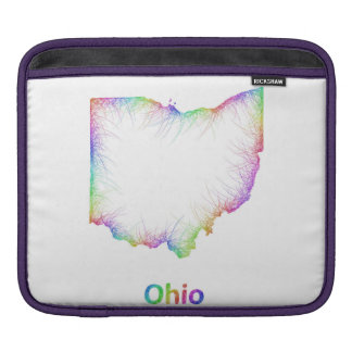 Rainbow Ohio map Sleeves For iPads