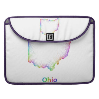 Rainbow Ohio map Sleeves For MacBook Pro