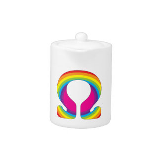 Rainbow Ohm Yoga Mantra Teapot