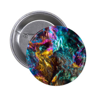 Rainbow Oil Slick Crystal Rock Button