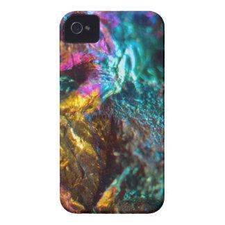 Rainbow Oil Slick Crystal Rock iPhone 4 Case-Mate Case