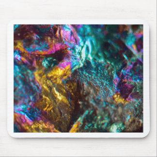 Rainbow Oil Slick Crystal Rock Mouse Pad