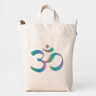 Rainbow Om Aum Symbol Duck Bag