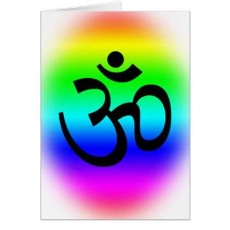 Rainbow Om Greeting Card