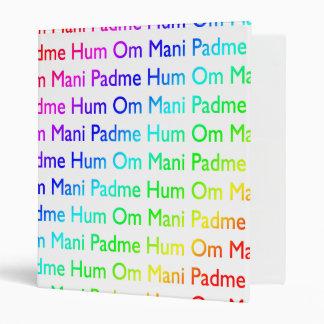 Rainbow Om Mani Padme Hum Binder
