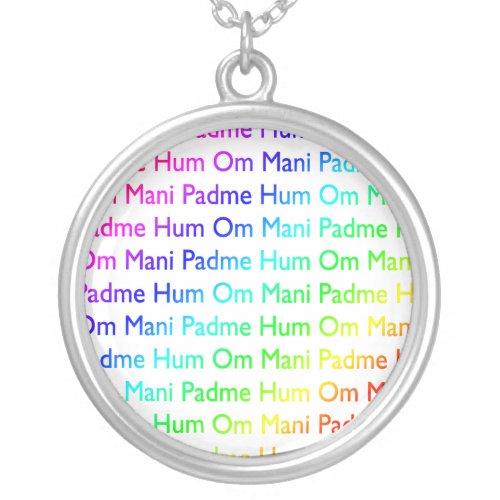 Rainbow Om Mani Padme Hum Necklace necklace