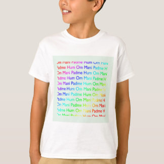 Rainbow Om Mani Padme Hum (on Baby Blue) T-Shirt