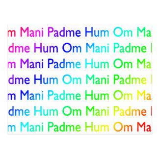 Rainbow Om Mani Padme Hum Postcards