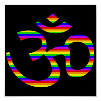 Rainbow Om or Aum ॐ.png Poster