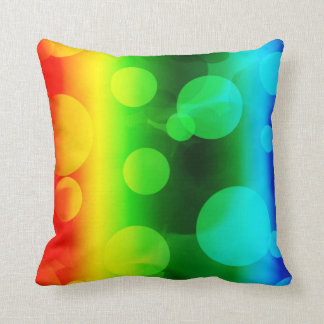 Rainbow Ombre Bokeh Throw Pillows