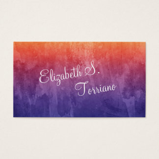 Rainbow Ombre Watercolor Business Card