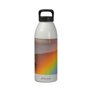 RAINBOW ON A COUNTRY ROAD WITH TREE DRINKING BOTTLE