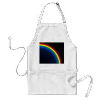 Rainbow on black adult apron