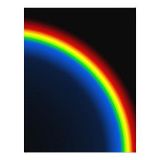 Rainbow on black flyer