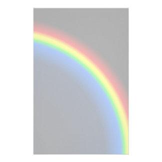 Rainbow on black stationery