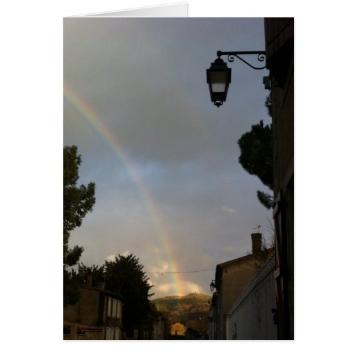 Rainbow on Rennes-the-castle Stationery Note Card