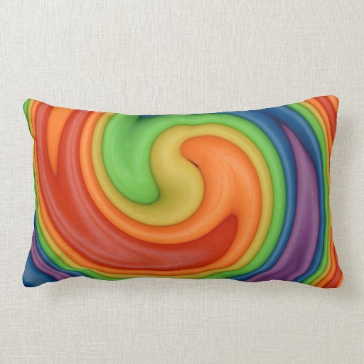 Rainbow on Spin Cycle Pillows