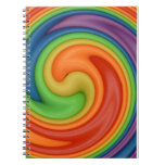 Rainbow on Spin Cycle Spiral Notebook