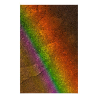 Rainbow On Stone Stationery