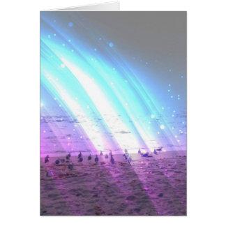 Rainbow on the Beach Card