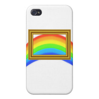 Rainbow on White Cases For iPhone 4