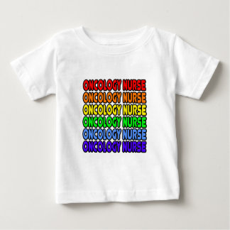 Rainbow Oncology Nurse Baby T-Shirt