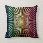 Rainbow Op Art Pillow