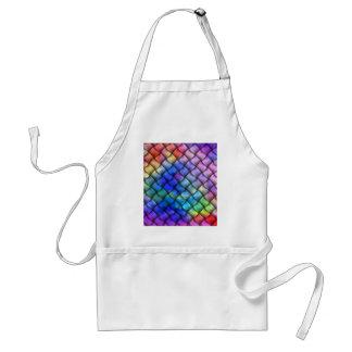 Rainbow optical illusion aprons