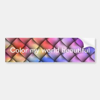 Rainbow optical illusion bumper sticker