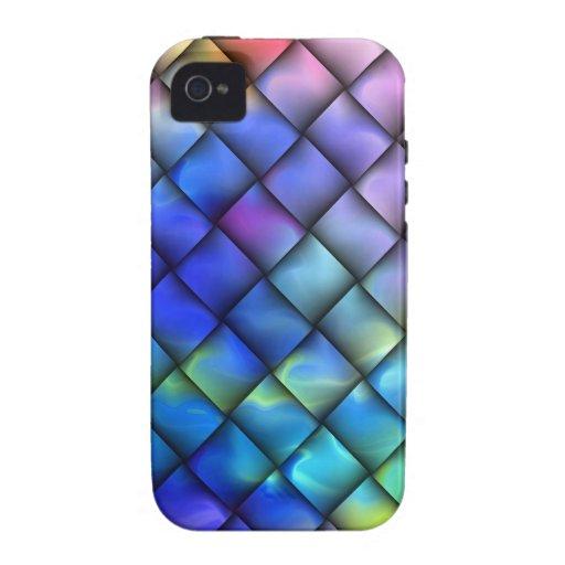 Rainbow optical illusion vibe iPhone 4 covers