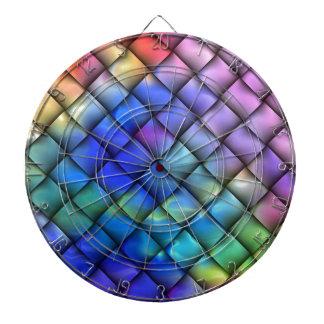 Rainbow optical illusion dartboards