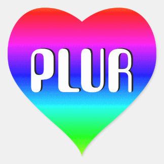 Rainbow Optical Illusion Heart Sticker