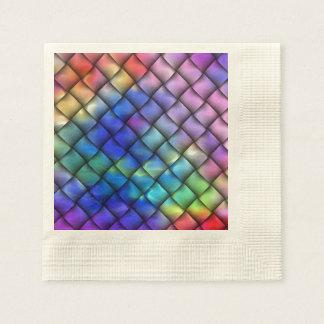 Rainbow optical illusion paper napkin