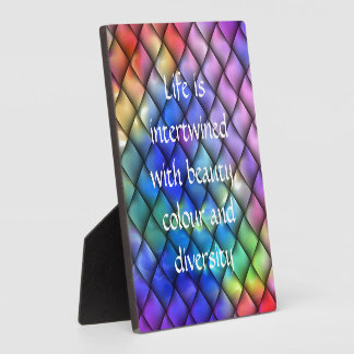 Rainbow optical illusion plaque