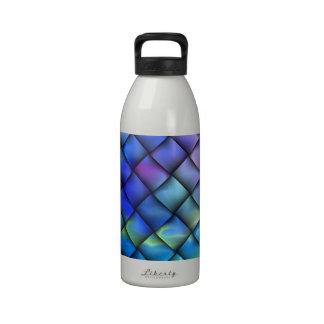 Rainbow optical illusion reusable water bottles