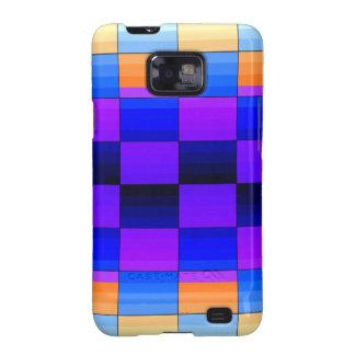 Rainbow Optical Illusion Spectrum Color Chessboard Samsung Galaxy S2 Case