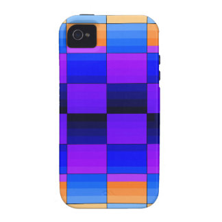 Rainbow Optical Illusion Spectrum Color Chessboard Vibe iPhone 4 Covers