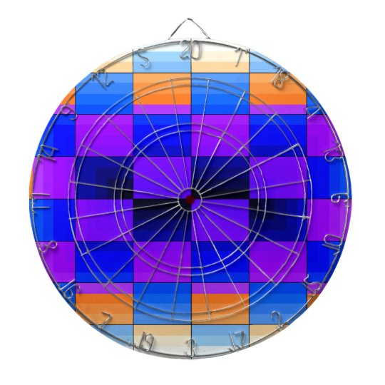 Rainbow Optical Illusion Spectrum Color Chessboard Dartboard With Darts