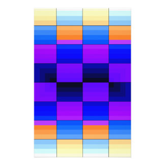 Rainbow Optical Illusion Spectrum Color Chessboard Personalized Flyer