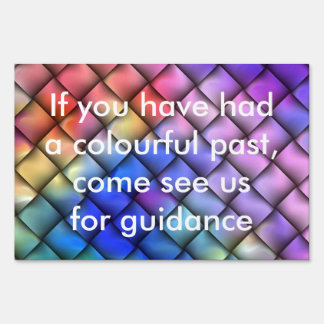 Rainbow optical illusion yard sign