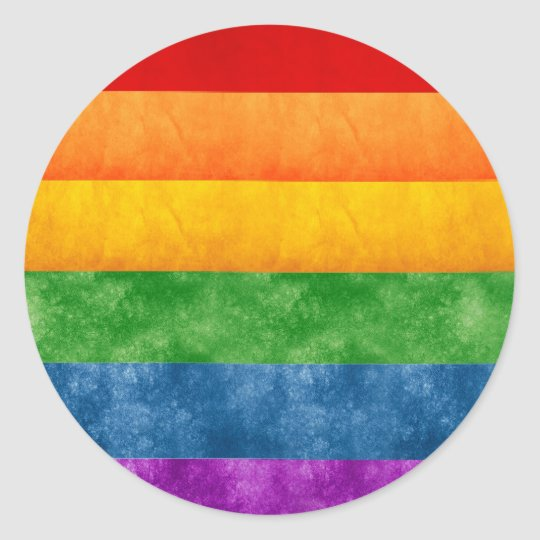 Rainbow or Gay Pride Flag Classic Round Sticker