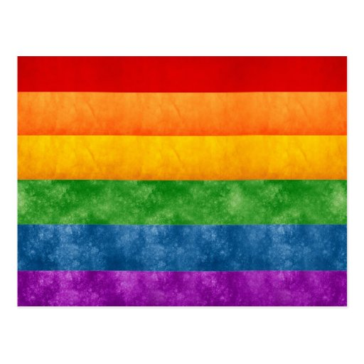 Rainbow or Gay Pride Flag Post Card