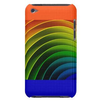 Rainbow Orange Pattern Print Typography iPod Touch Case-Mate Case