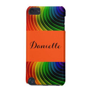 Rainbow Orange Pattern Typography iPod Touch (5th Generation) Case